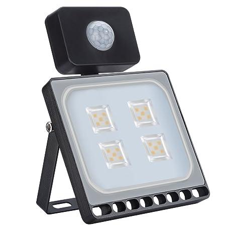 20W Blanco Cálido Foco LED Sensor Movimiento Reflector Impermeable SMD IP67 Lámpara PIR Seguridad Lámpara LED