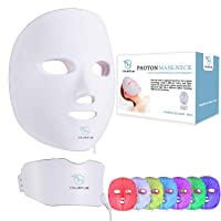 YOURFUN Rechargeable 7 Color LED Mask for Face and Neck Light Skin Rejuvenation...