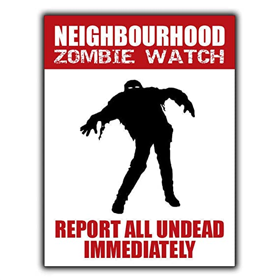 HALEY GAINES Neighbourhood Zombie Watch Placa Cartel Póster ...