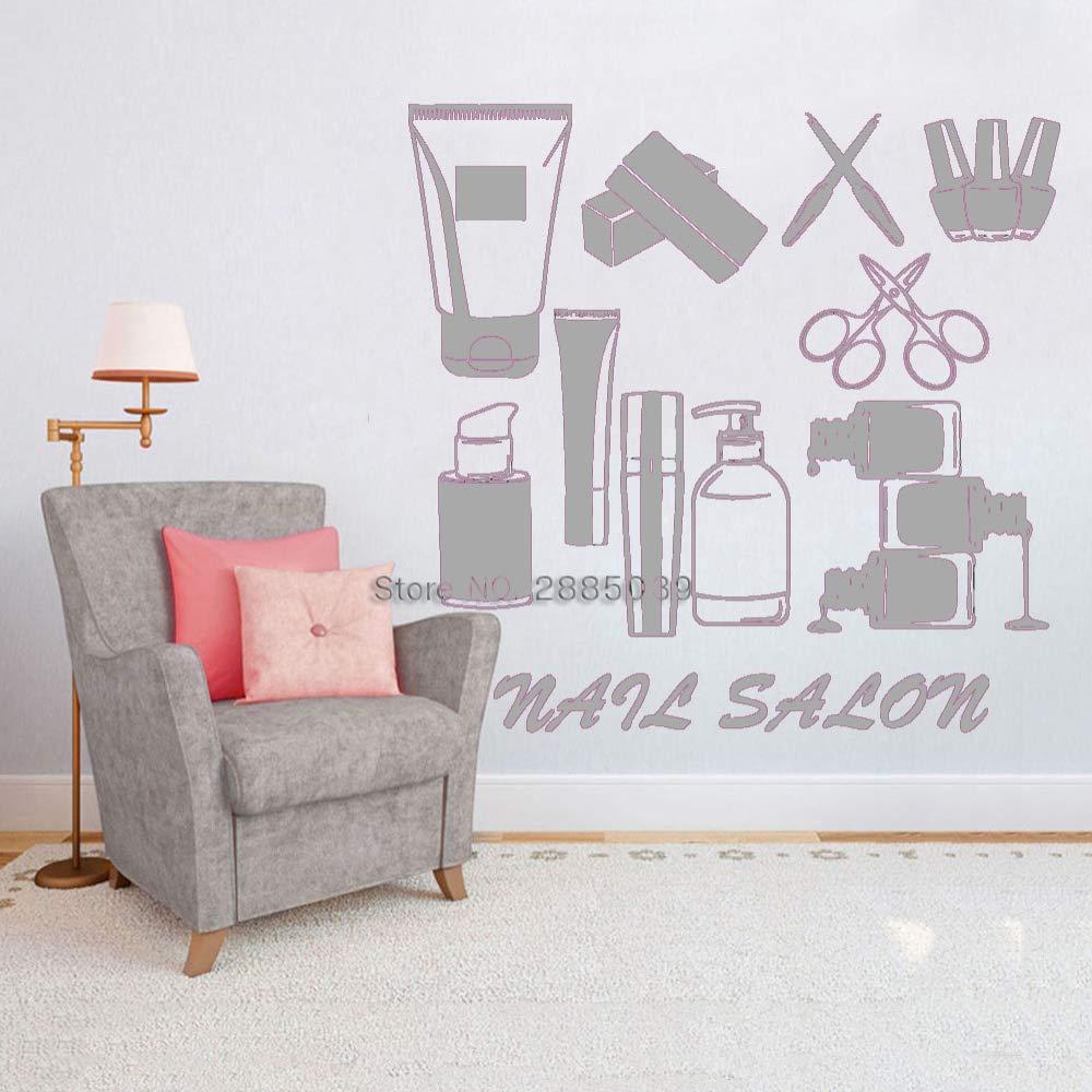 guijiumai Nail Salon Wall Decal Nail Salon Tools Poster ...