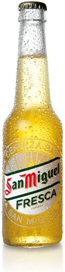 San Miguel Fresca Cerveza Dorada Lager, 4.4% Volumen de Alcohol - Botella de 33 cl