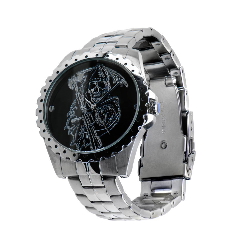 Sons of Anarchy Grim Reaper Edelstahl Armbindeuhr