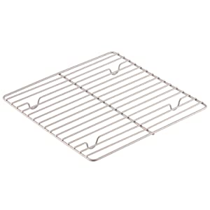 CHEFMADE Baking and Cooling Rack, 10.5-Inch Non-Stick Square Wire Rack, FDA Approved for Oven Baking (Champagne Gold)