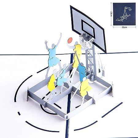 Tarjeta 3D de baloncesto para niños, día del padre, cumpleaños ...