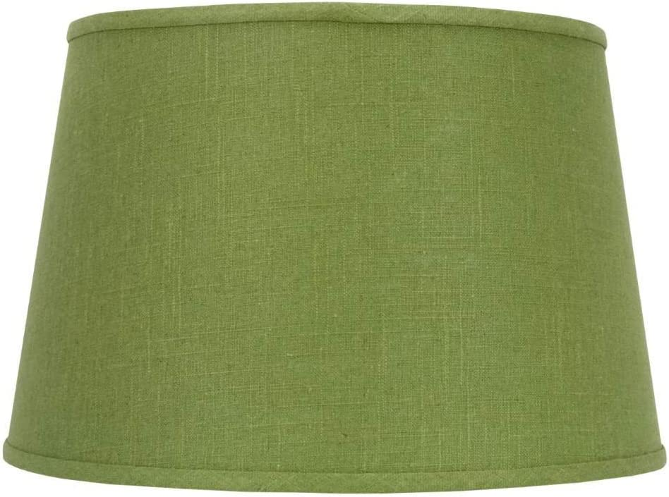 Upgradelights Apple Green Linen 16 Inch Drum Floor or Table Lampshade with Washer Fitter