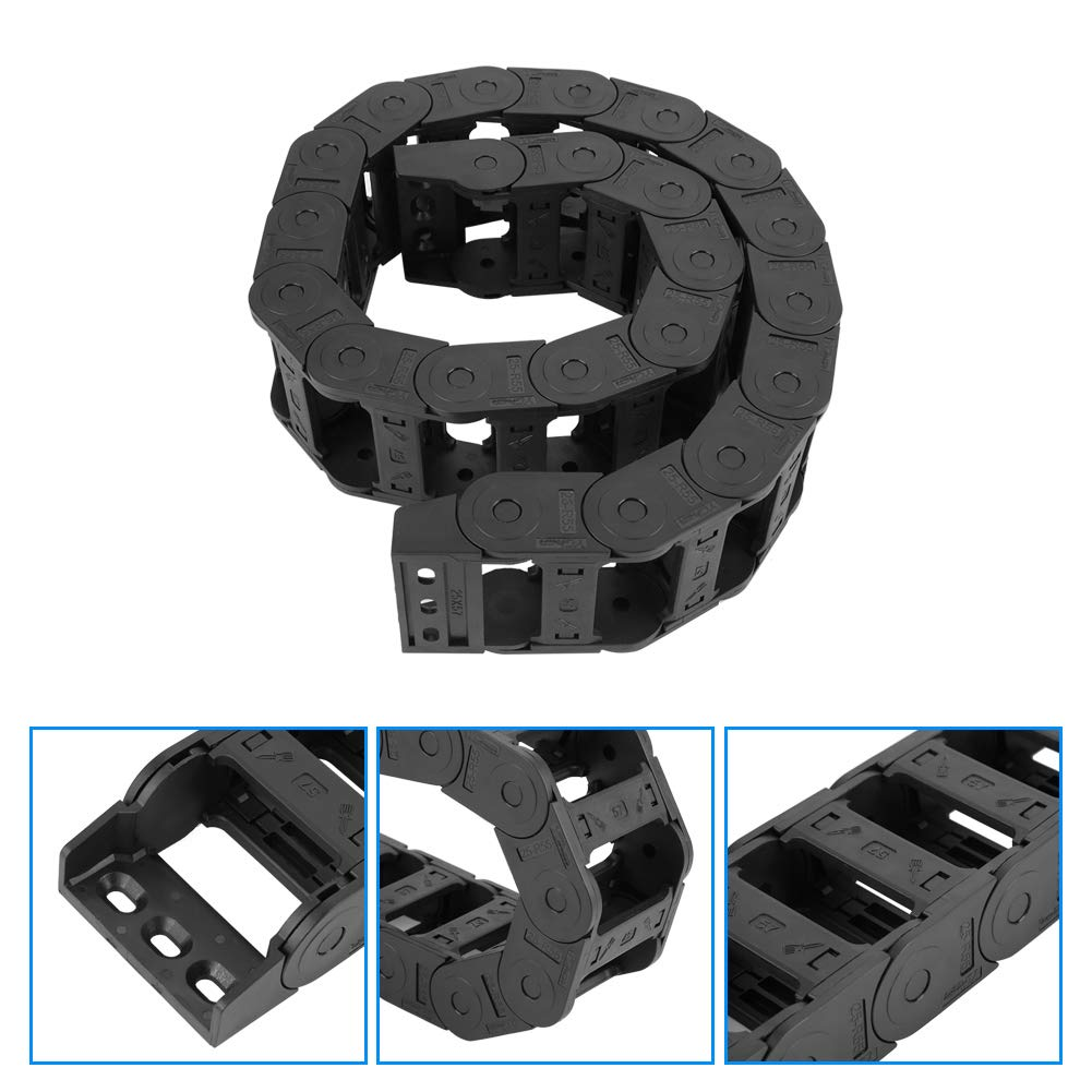 100cm 25 x 57mm Long Black Nylon Open Both Side Cable Carrier Drag Chain CNC Engraving Machine Tools
