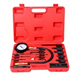 WIN.MAX 16PCS Professional Diesel Engine Cylinder Compression Tester Tool Kit Set for Auto Tractor Semi with Case