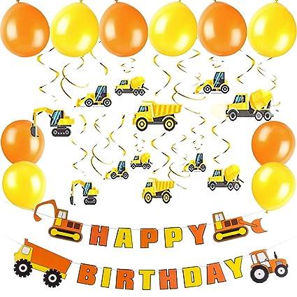 Amazon.com: Construcción cumpleaños fiesta suministros bomba ...