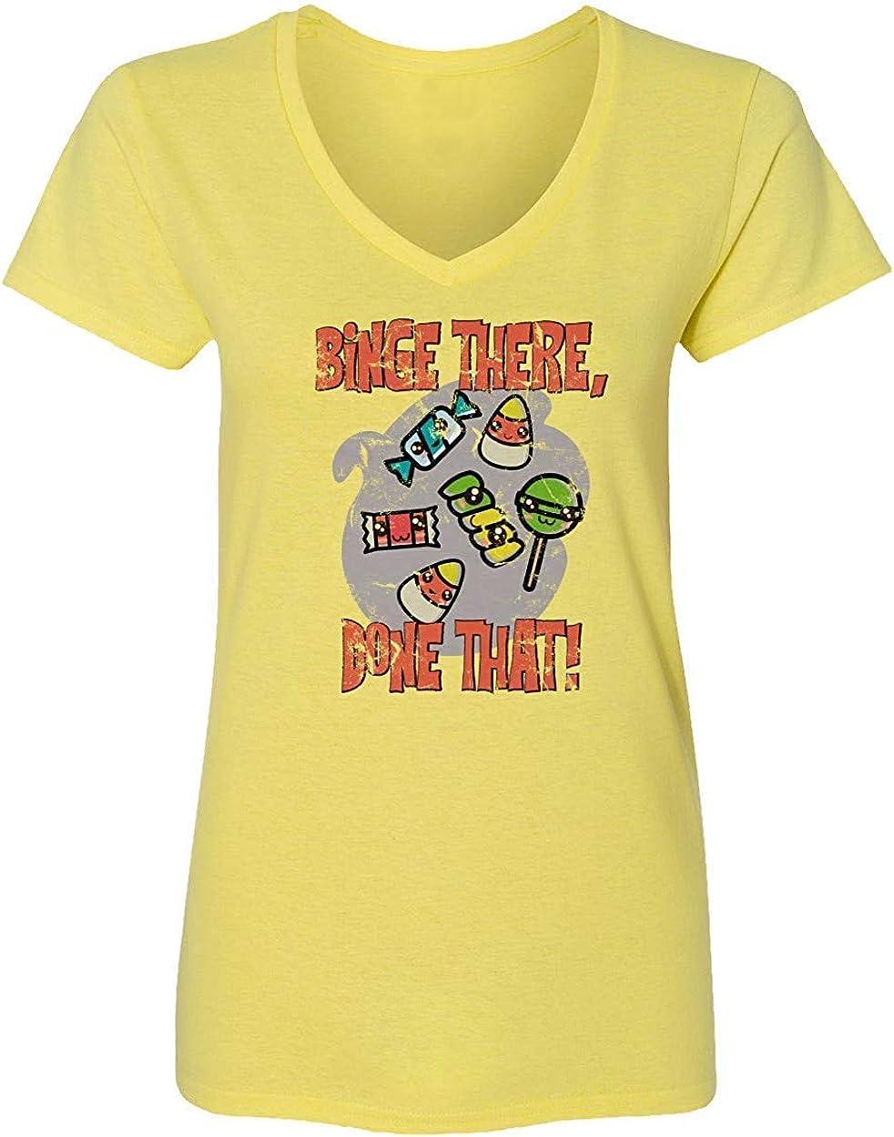 Nueva Camisa de la Novedad Que Trata la Camisa del Caramelo Que Estudia la Camiseta Vneck Divertida de Halloween del Estudio, L: Amazon.es: Ropa y accesorios