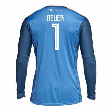 a879095def4 2018-19 Germany Home Goalkeeper Football Soccer T-Shirt (Manuel Neuer 1)