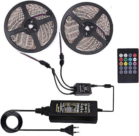 solo 2.4G WiFi WiFi Tira LED 15M Tira LED RGB Inteligente Control Remoto por APP Google Home para el Hogar Fiesta Compatible con Alexa TV Nobent 5050 SMD Luces LED Regulable Sync con M/úsica