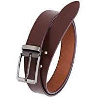 KAEZRI Men's Genuine Leather Brown Belt-2 Year Money back Guarantee-belts for mens-leather belt for men formal branded-genuine leather belt for men