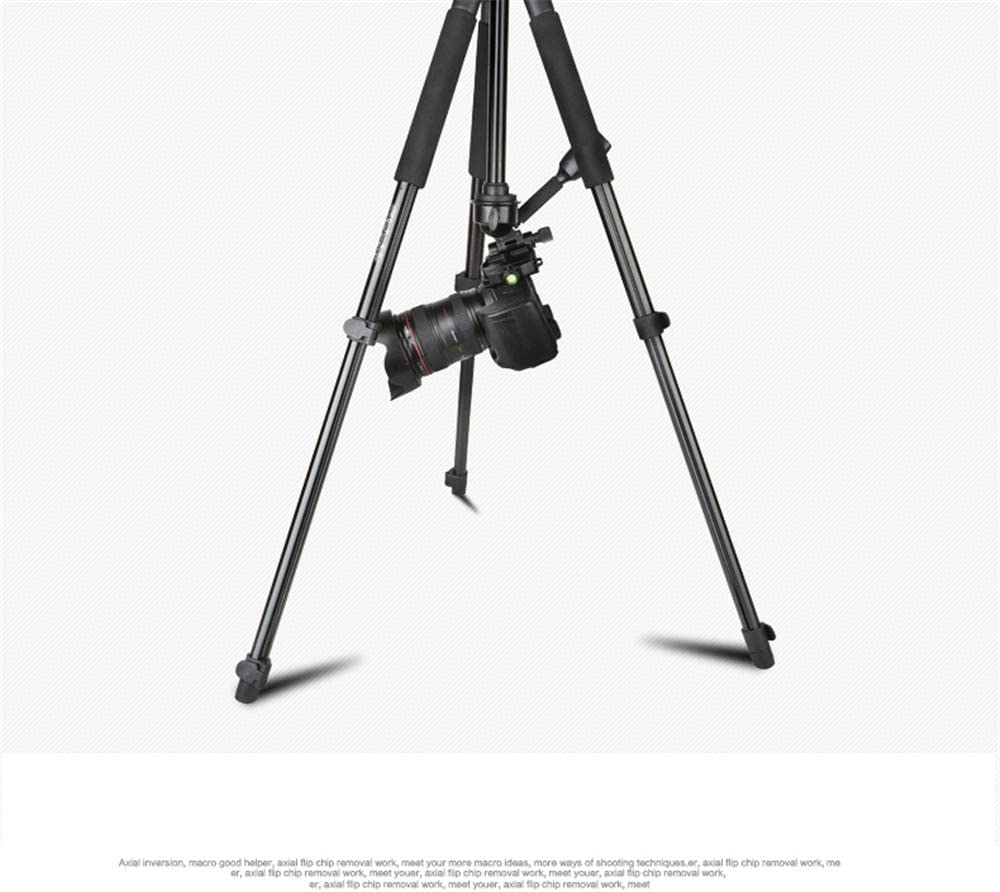 Goodvon Aluminum Alloy Travel Tripod Fine Tuning Damping 360/° Panorama Ball Head Portable All-in-One Professional Quick Release Plate Ground Spreader Design