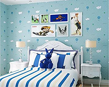 Yosot Grun Blau Junge Kinderzimmer Tapete Vlies In Warmen