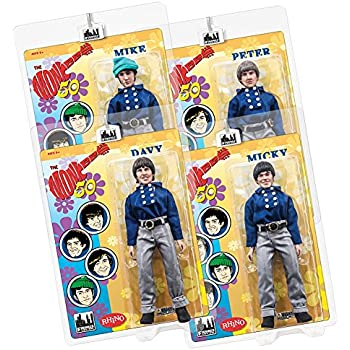 The Monkees 8 Inch Action Figures: Blue Band Outfit: Set of all 4