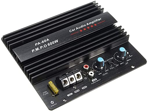 Semoic 12V 600W Amplifier Board Mono Car Audio Power Amplifier Powerful Bass Subwoofers Amp Pa-60A