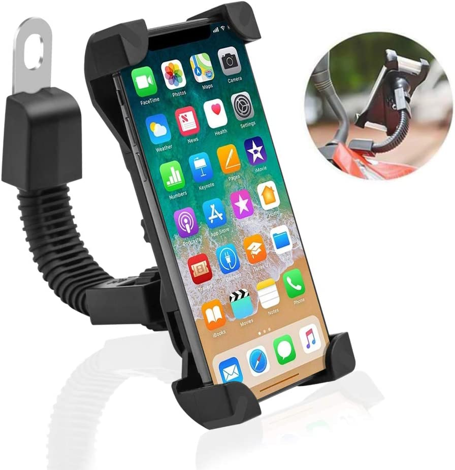 Leagway Motorcycle Phone Holder Motorcycle Motorbike Phone Mount Holder Handlebar Compatible with 3.5-6.5 inch Samsung Galaxy S5 S6 S7 S8 S9 Nexus LG Huawei Smartphones Rose 360 Degree Rotation