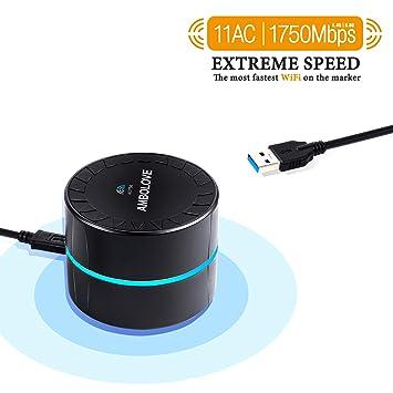 Amazon.com: AMBOLOVE - Adaptador USB WiFi de doble banda de ...