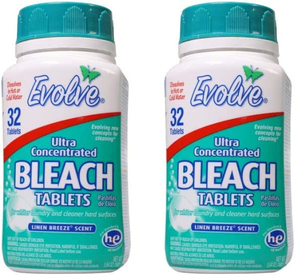 Evolve Original Scent Bleach Tablets (2, Linen Breeze)