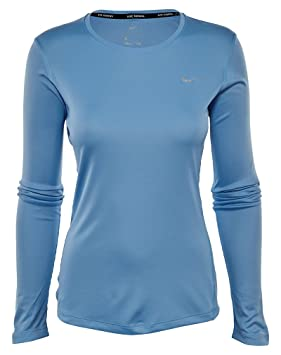 6e606e95 Image Unavailable. Image not available for. Colour: Nike Miler Long Sleeve  - Long-sleeve Top for women ...