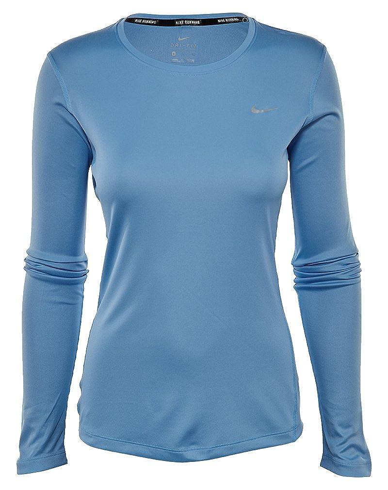 new product ba5d5 951a7 Nike Mens Miler Printed Long Sleeve Running Shirt