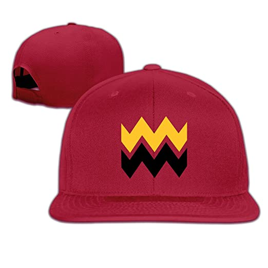 ab1ea821f63 YLSD Charlie Brown Wavy Lines ColorfulCLASSIC Men Women Baseball Adjustable Cap  Baseball Caps Red
