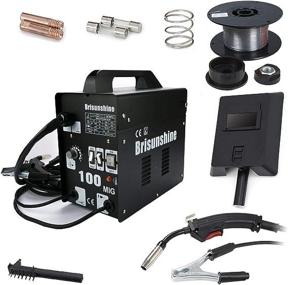 Soldador MIG 100 amperios, electrodos, dispositivo de soldad