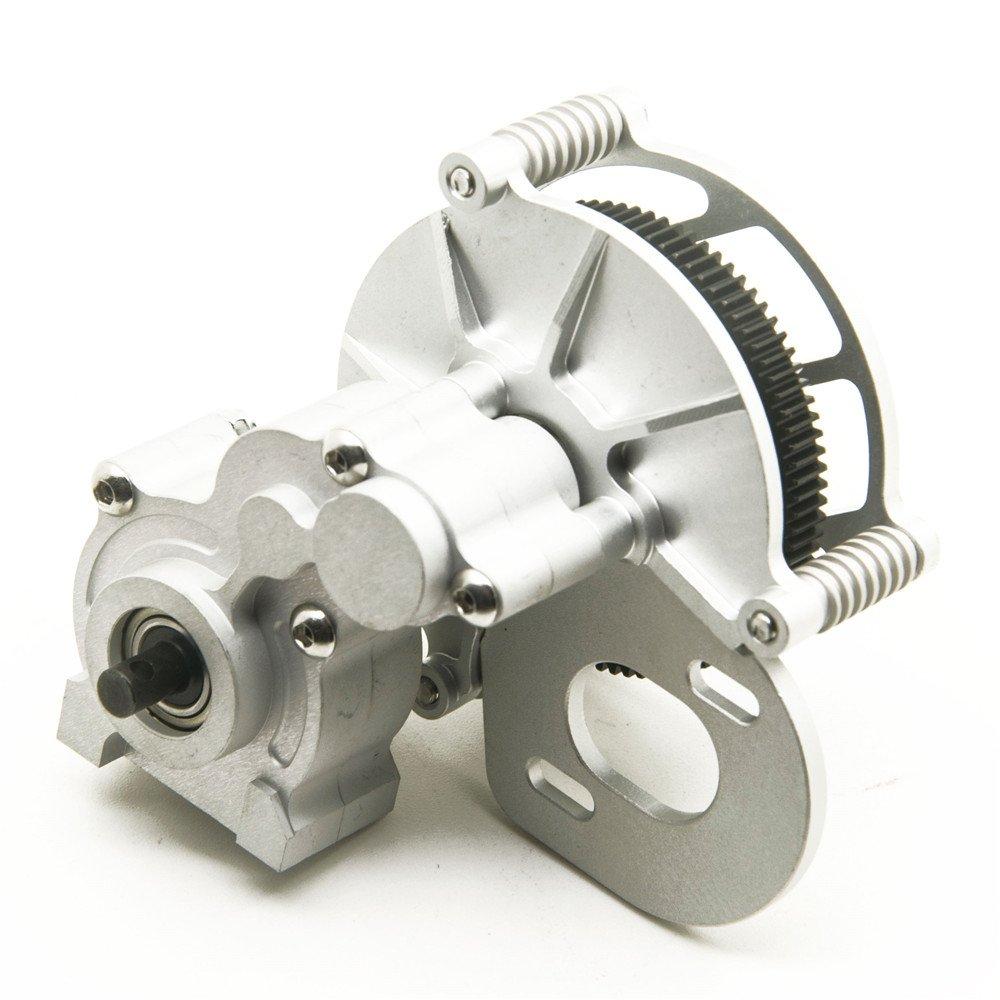 RC Crawler Getriebegehäuse Mitte Getriebe für 1/10 RC Axial SCX10 AX10 Matte Silber