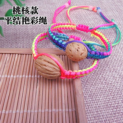 2018 The new line of colorful hand rope natural Peach Dragon Boat Festival multicolored rope bracelet baby child