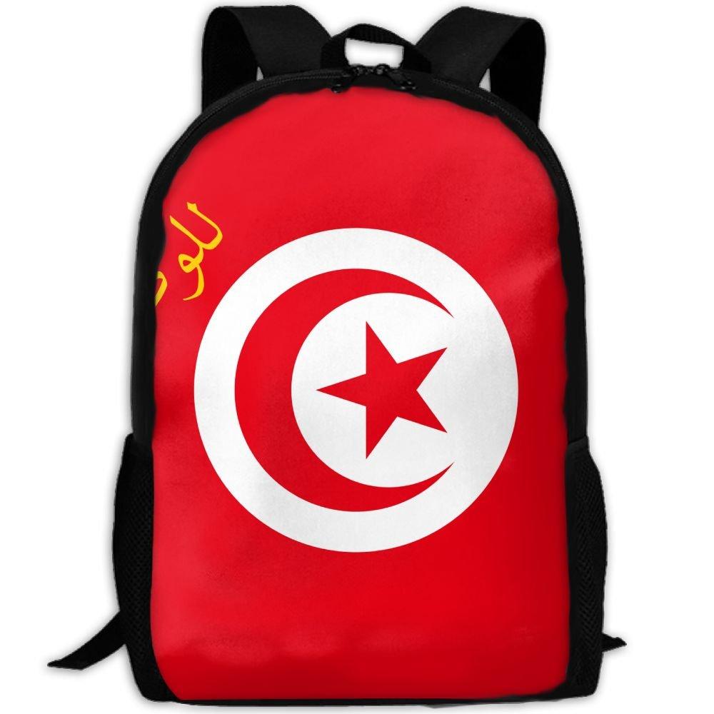 good Kuswaq Flag Of Tunisia Unisex Novelty Fashion Daypack Travel Shoulder Bag Hiking Gym Bag Backpack
