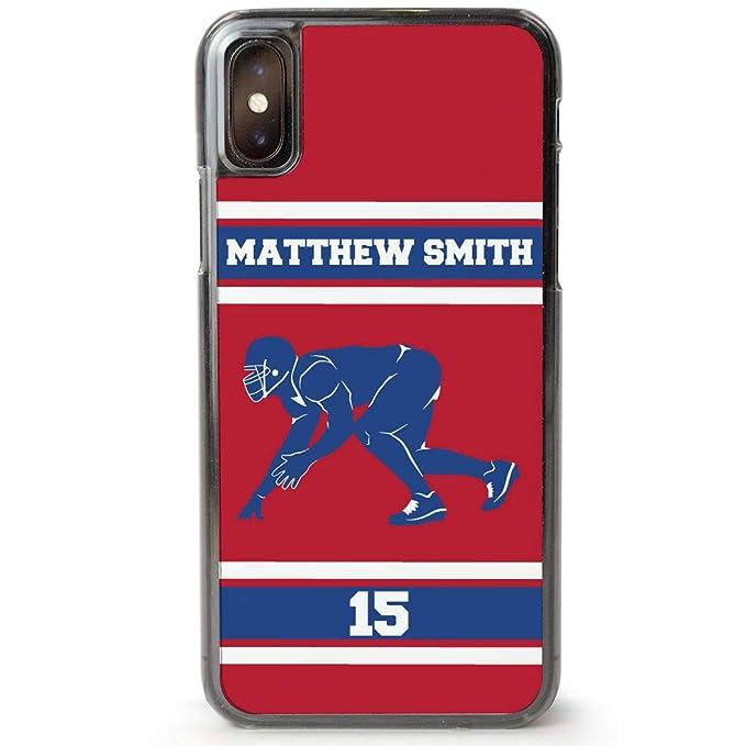 e11af31e185a5 Amazon.com: Custom Football iPhone 7/8 Case | Personalized ...