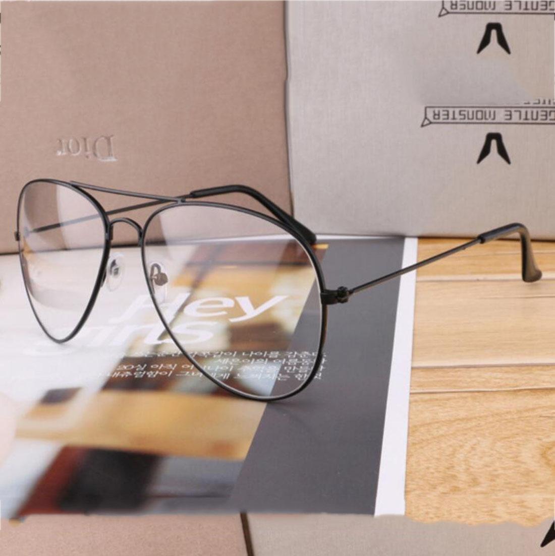 Z&YQ klar Linse Spiegel Flieger Gläser Myopie Schutzbrillen dünnen ...