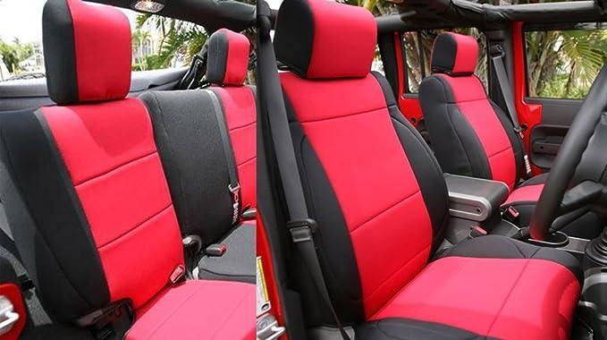 2-door Waterproof premium neoprene front FB seat covers fit Jeep Wrangler