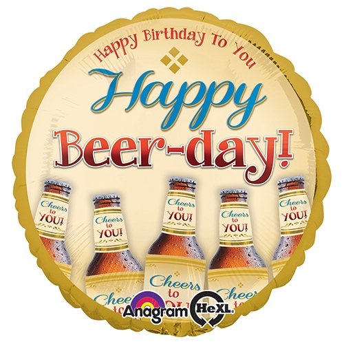 Anagram 30732 Happy Beer-Day Foil Balloon, 18