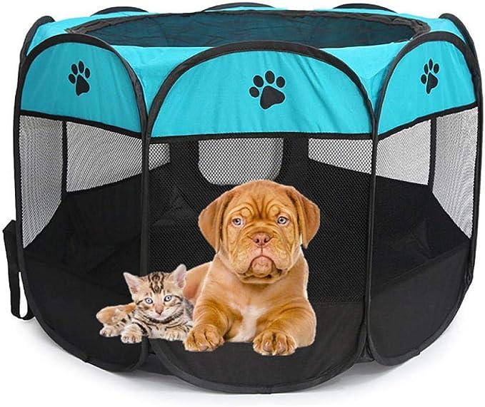 Cama portable de la Carpa del perro casero Parque infantil Casa for Perros cesta plegable del perro de perrito del recinto de la jaula a prueba de agua for el perro de la perrera Casa Nido-5_73x73x43c