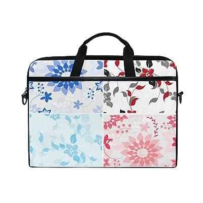 AHOMY Hand Painted Flower Leaf 15 Inch Laptop Shoulder Sleeve Messenger Bag Case