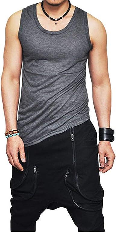 Camisetas De Hombre Camisetas De Festival Hombre para Verano de Moda Camisetas De Tirantes Slim Fit Camisa Sin Mangas Cadena Fitness Culturismo: Amazon.es: Ropa y accesorios