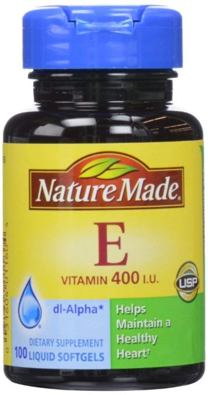 Nature Made dl-Alpha Vitamin E 400 IU Softgels 100 ea (Pack of 10)