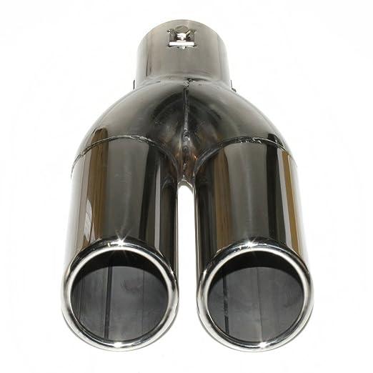 /57/mm diametro in acciaio cromato /0040/universale doppia Sport Auto di scarico terminale di scarico in acciaio inox 43/ Bolo Romo yfx/