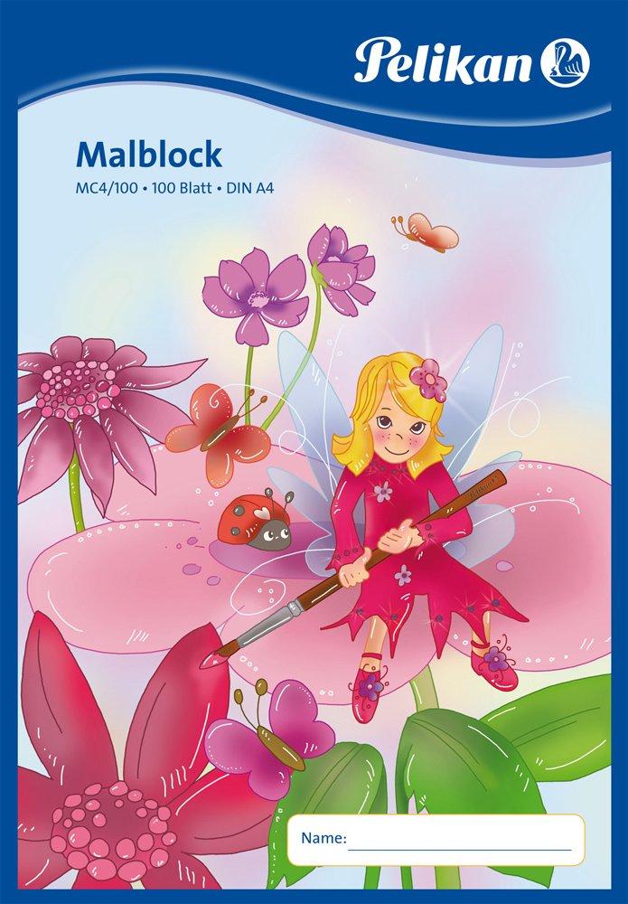 Pelikan Malblock / Zeichenblock / 100 Blatt / DIN A4 / mit Fee