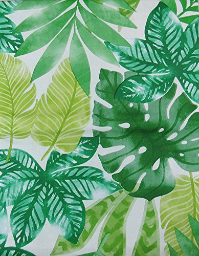 Sunlight Shining Through Tropical Forest Leaves Vinyl Flannel Back Tablecloth (52