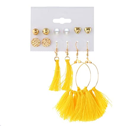 Toys & Games Cosmetics & Jewellery Sperrins Dangle Stud Earrings Elegant Alloy Earrings for Women Girls Jewelry Accessories Charms Gifts Round Shape Vintage Stone Black