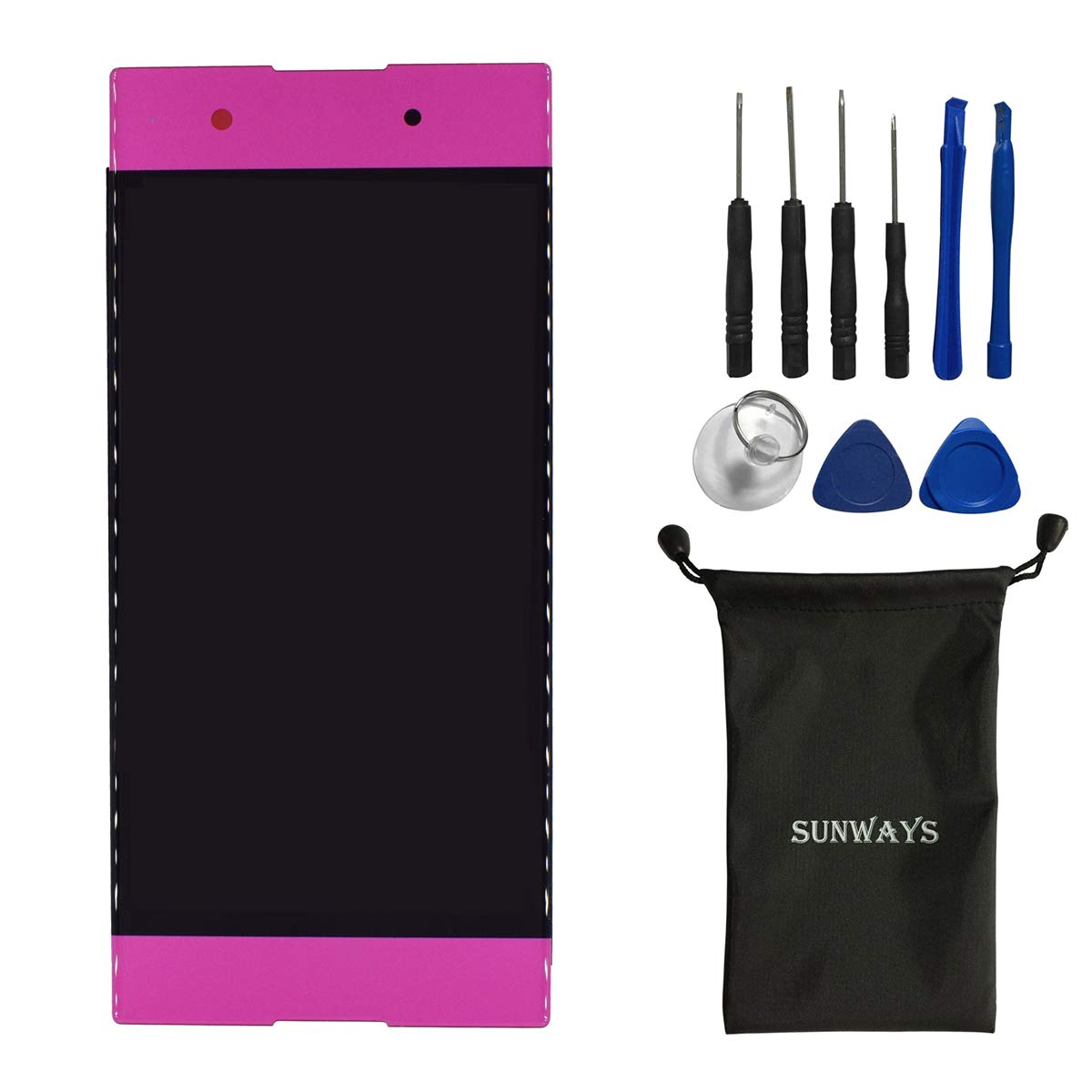 Sunways Complete LCD Display Touch Digitizer Screen Replacement for Sony Xperia XA1 Plus G3416 Pink by sunways