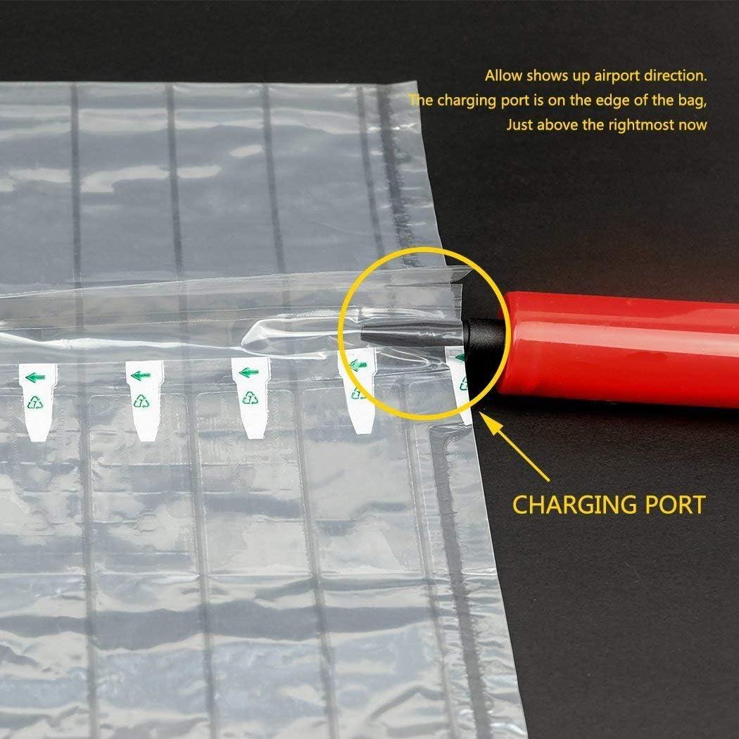 Protezione per bottiglie di vino CNNIK 15 Pezzi Borsa da viaggio gonfiabile con colonna daria con pompa riutilizzabile gratuita per imballaggio e trasporto sicuro di bottiglie di vetro