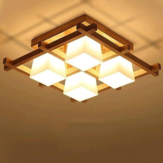 japanese style lighting. SLLR Ceiling Lights Simple Japanese-style Modern Living Room Lamp New Chinese Wooden Bedroom Japanese Style Lighting Y
