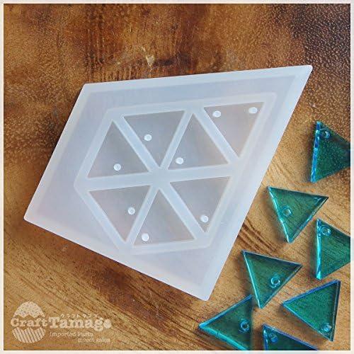 Craft Tamago 【1個】シリコン型 モールド 正三角形 カン有りチャーム