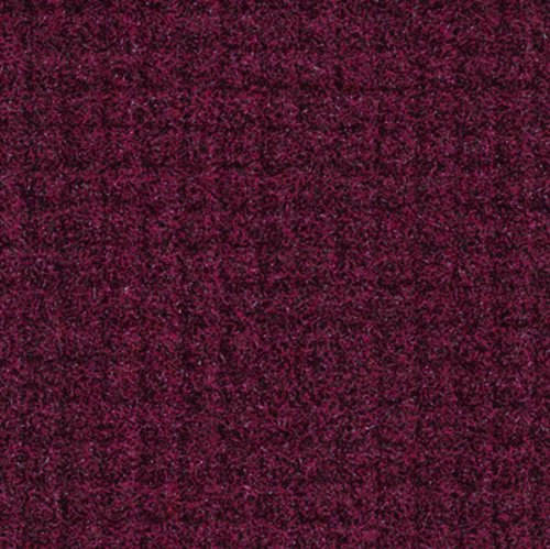 Andersen 395 Burgundy Nylon Brush Hog Entrance Mat, 4' Length x 3' Width, For Indoor/Outdoor
