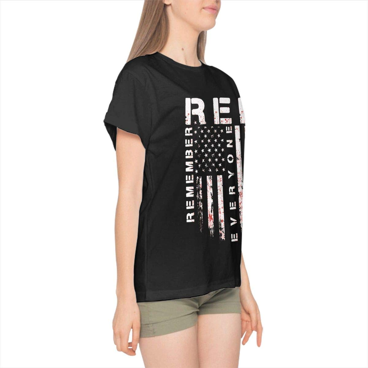 DANIELBURTON Black R.E.D Remember Everyone Deployed Shirts Fashion Custom for Women