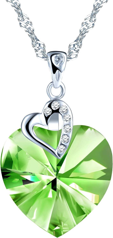 SixLuo Collar de plata 925 para mujer