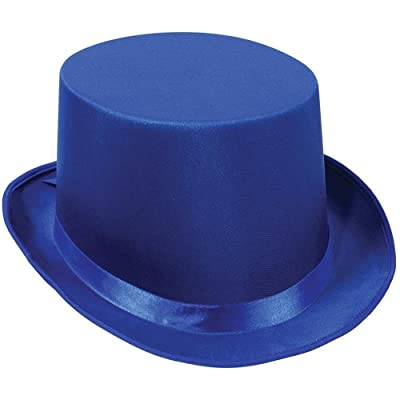 Satin Sleek Top Hat (blue) Party Accessory (1 count): Toys & Games